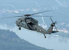 Blackhawk helicopter over Austria
