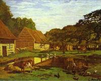 Claude Monet. Farm Courtyard in Normandy. c.1863.