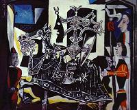 Pablo Picasso. Knight, Page and Monk. 1951.