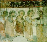 Fresco Detail from Akhtala Monastery, 13th century