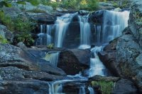 Waterfall and Boulders