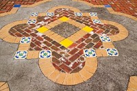 Ceramic Tiles and Brick Pavement