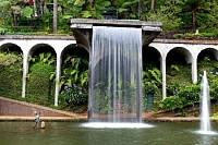 Waterfall in Tropical Garden on Madeira, Portugal