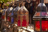 Moroccan Glass and Metal Lanterns Lamps