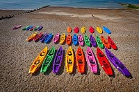 Kayaks at the Beach