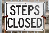 Steps Closed Sign