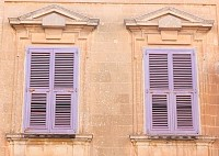 Malta Mdina House Windows