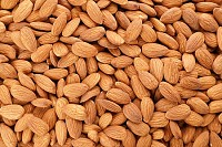 Almond nuts as background