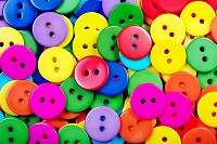 Multicolored buttons texture background