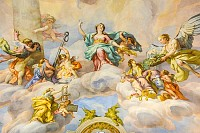 Karlskirche church fresco Austria, Vienna