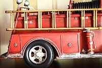 Red firemen Fire Truck classic car model