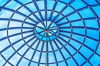 Geometrical ceiling, limpid round ceiling