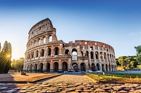 Rome, Italy. The Colosseum at sunrise