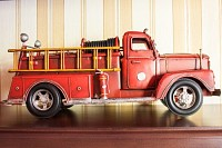 Red fire truck: classic car
