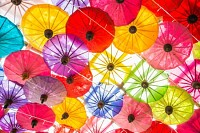 Colorful Paper Parasols
