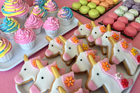 Kids cookies unicorn