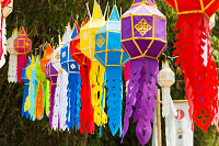 Colorful Lanna Buddhist Paper Lantern made for Ann