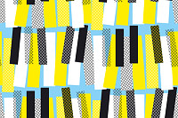 Abstract yellow and blue jazz music seamless patte