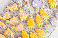 Easter sugar cookies decorated with royal icing of