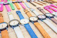 Image of many watches fashion for background.