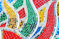 Art mosaic glass or seamless glass mosaic on the w