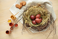 Preparing for Easter. Colorful decoration, decorat