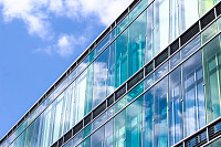 Business buildings detail - architecture with sky