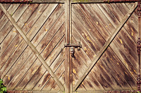 Texture of old wooden gate