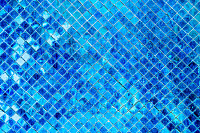 Blue mosaic background, Tile Glass seamless patter