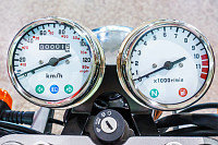 Gauges of vintage classic motorcycle