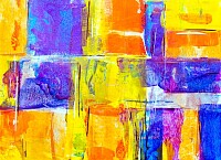 Abstract Yellow Based Painting