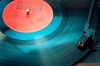 Vinyl Playing on Turntable