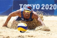 Beach Volleyball Competition - US against Qatar