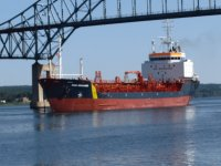 The Dara Desgagnes coming to port in Miramichi NB