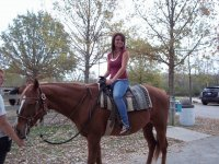 on the horse