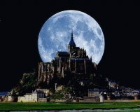 blue moon and castle