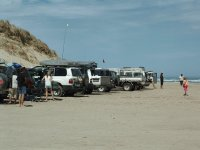 SUVs on the Beach, Goolwa, S.A