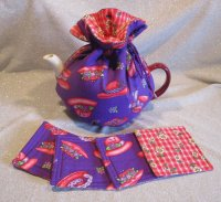 Cute Tea Cozy and Matching Coasters