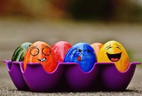 Funny Faces on Easter Eggs