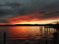 Colorful Sunset on Clear Lake