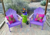 Purple Summer Patio Chairs