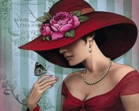 Lady with Butterfly