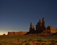Monument Valley By Night Looking WNW