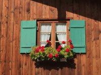Window in Wamberg, Garmisch-Partenkirchen, Germany