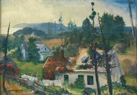 George Bellows - The Red Vine, Matinicus Island