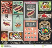 Vinage poster Hot dogs