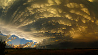 Mammatus Thunderstorm Sunset