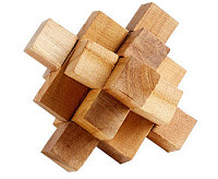 Natural Wood Cube Puzzle