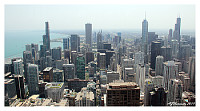 chicago skiline from above