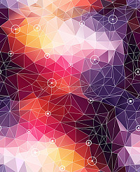 Seamless abstract triangle colorful pattern